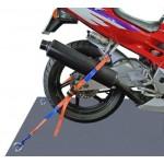 Motorrad Zurrsystem Set hinten